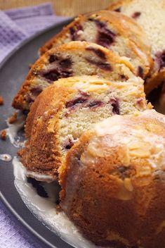 Cherry-Vanilla Yogurt Cake
