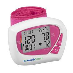 HealthSmart Women s Automatic Wrist Digital Blood Pressure Monitor memory storage.Average of last 3 readings; Date and time stamp. WHO Indicator.Includes: 2 AAA batteries and case; Blood Pressure Supplements, What Is Blood Pressure, Blood Pressure Control, Blood Pressure Numbers, Blood Pressure Symptoms, Blood Pressure Medicine, Blood Pressure Chart, Blood Pressure Remedies, Pink