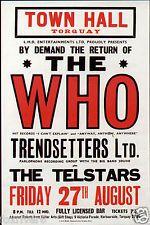 THE WHO Concert Flyer / Handbill - Town Hall, Torquay 1965