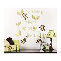 Monkey see, monkey do! Wall decal for a safari #nursery theme