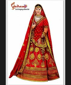 Indian Drawing, Indian Illustration, Antique Jewellery Designs, Draping, Mehendi, Bridal Looks, Figure Drawing, Art Sketches, Brides