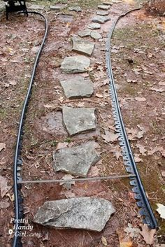 Creating a Mulch and Stone Path