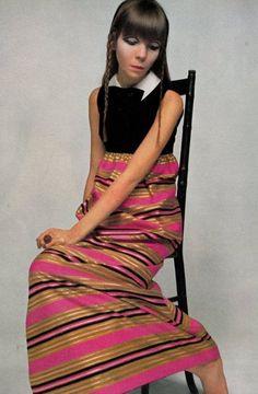 Vogue UK, November 1967  Photographer: David Bailey  Model: Penelope Tree
