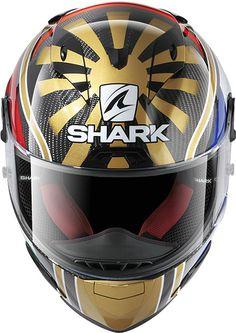 Shark Race R Pro Zarco Shark Motorcycle Helmets, Shark Helmets, Bike Helmets, Helmet Design, Cycling Bikes, Motogp, Motorbikes, Racing, Sticker