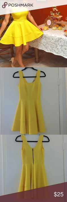 Mystic Yellow Dress Size small. Only wore once to my wedding shower. In great condition. Mystic Dresses Mini
