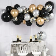 Glitz and Glam Balloon Garland - DIY Balloon Clouds - Bubblegum Balloons Bubblegum Balloons, 16 Balloons, Balloon Clouds, Confetti Balloons, Balloon Arch, Balloon Garland, Balloon Decorations, Metallic Balloons, Latex Balloons