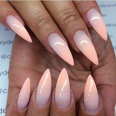 not a fan of the pointy nail but the love the ombre