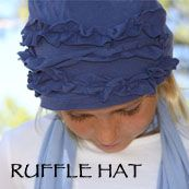 Recycled T-Shirt Ruffle Hat Tutorial. I want one of these. Who can make it for me?