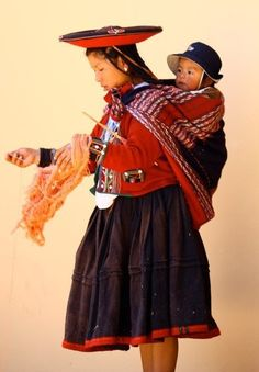 Young Peruvian mother and child