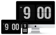 Fliqlo - Flip Clock App and Screensaver Iphone Clock, Desktop Clock, Clock Screensaver, Clock Wallpaper, Computer Desk Setup, App Of The Day, Ipad, Kids Study, Design Offices