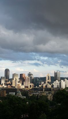 A beautiful cloudy day over downtown Pittsburgh.