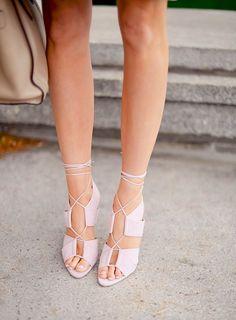 lace up rose sandals