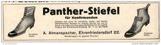 Original-Werbung/Inserat/ Anzeige 1912 - PANTHER STIEFEL FÜR KONFIRMANDEN/ATMANSPACHER EHRENFRIEDERSDORF - ca. 55  x 180
