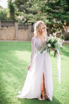 Wedding dresses,lace wedding dresses,v-neck bridal gown,split wedding dress,country style wedding bridal Country Style Wedding Dresses, 2016 Wedding Dresses, Wedding Dress Trends, Wedding Gowns, Lace Wedding, Dresses 2016, Wedding Tips, Wedding Venues, Wedding Outfits