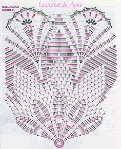 Home Decor Crochet Patterns Part 44 - Beautiful Crochet Patterns and Knitting Patterns Filet Crochet, Crochet Doily Diagram, Crochet Doily Patterns, Crochet Chart, Thread Crochet, Crochet Motif, Crochet Stitches, Crochet Round, Crochet Table Runner