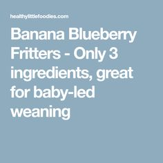 Banana Blueberry Fritters - Only 3 ingredients, great for baby-led weaning