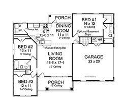 Open Concept Plan (HWBDO75390) | Traditional House Plan from BuilderHousePlans.com