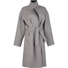 Robbie Grey Coat (£795) ❤ liked on Polyvore featuring outerwear, coats, gray coat and grey coat