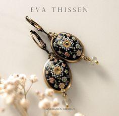 SALE. VINTAGE CHINA  classic and elegant handmade earrings
