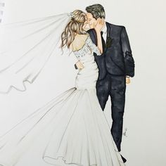 "좋아요 325개, 댓글 12개 - Instagram의 Melsy's Illustrations ©(@melsysillustrations)님: ""A very special custom for a Bride and groom 💗#weddings #fashion #fashionillustration #love"" Wedding Drawing, Wedding Art, Wedding Pics, Cute Muslim Couples, Wedding Illustration, Wedding Bottles, Art Deco Posters, Anime Love Couple, Watercolor Fashion"
