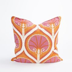 Bright Orange and Pink Throw Pillow Cover l #shopceladon
