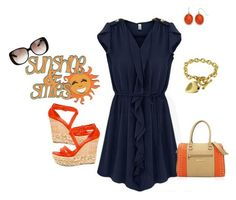 """""""summer dress nmb"""" by burnsidedesigns ❤ liked on Polyvore featuring Casadei and Gucci"""