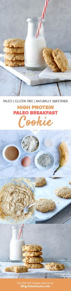 Soft-baked and protein-packed, these breakfast cookies are a tasty way to kick-start your day! Get the full recipe here: http://paleo.co/proteinbrekkycookie