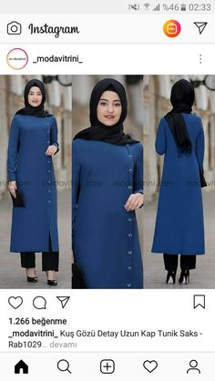 Image may contain: 2 people, people standing and text Modern Hijab Fashion, Muslim Women Fashion, Islamic Fashion, Abaya Fashion, Modest Fashion, Fashion Dresses, Hijab Style Dress, Casual Hijab Outfit, Hijab Chic