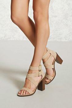 stacked heel sandal