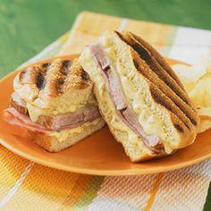 Cubano Pork Sandwiches made with Heluva Good!® Jalapeño Cheddar Dip