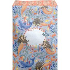 """Large 11"""" x 15.5"""" Printed Kids Padded Mailing Envelopes, Mermaids Mailing Envelopes, Kids Prints, 30 Gifts, Fine Paper, Biodegradable Products, Pastel Blue, Mermaids, Contents, Tape"""