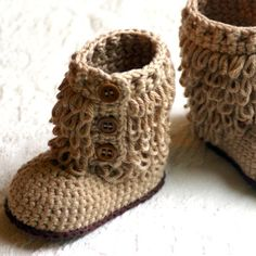 baby booties to crochet