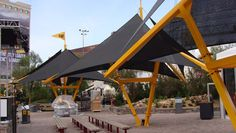 Shade Sail Structures | CAT ConExpo Trade Show - Las Vegas, Nevada