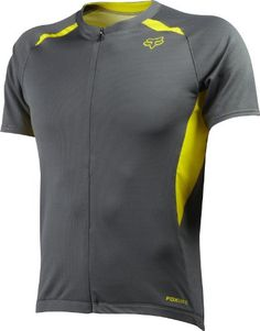 Fox Head Mens Aircool Zip Jersey Charcoal Medium -- You can find more  details by 1f7d16c53
