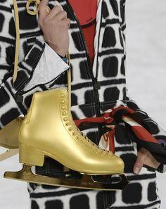Chanel Fall 2007 Golden Ice Skates