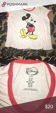 Mickey Disney shirt Never been worn, brand new just ripped off the tag thinking I would wear it Disney Tops Tees - Short Sleeve