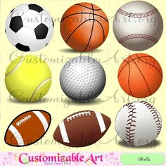 Popular items for football clipart on Etsy