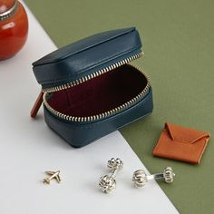 Leather Cufflink Box For Travel - for him