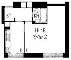 Agricolankuja, Kallio, Helsinki, 1h+k 34 m², SATO vuokra-asunto
