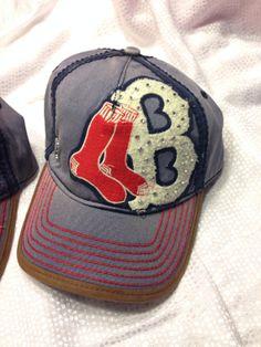 Boston Red Sox Swarovski bling hat by RoctheCrystal on Etsy, $20.00