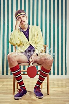 Individualité, Tennis de table, Sports et forme physique, Hommes, Chaise Photo libre de droits