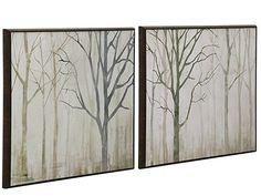 Grey Trees Framed Plaque Set