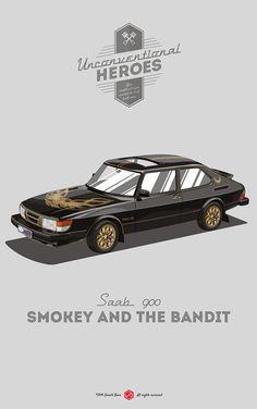 Tamerlane's Thoughts: Saab 900 Smokey and the Bandit