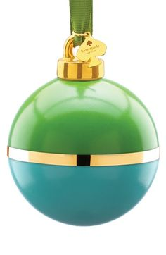 Free shipping and returns on kate spade new york green & turquoise globe ornament at Nordstrom.com. Gleaming gold bisects an elegant porcelain ornament strung with a kate spade charm.