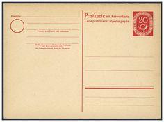Germany, Bundesrepublik 1951, Posthorn, 20 Pfg.-GA-Doppelkarte, ungebraucht Pracht (Mi.-Nr.P15/Mi.EUR 60,--). Price Estimate (8/2016): 15 EUR.