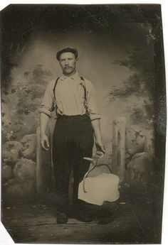 The iceman cometh. Tintype.