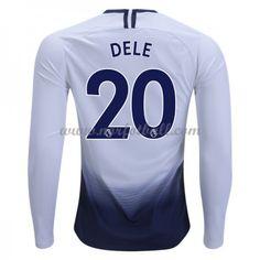 Nike Dele Tottenham Hotspur Long Sleeve Home Jersey Tottenham Hotspur, Nike, Premier League, Long Sleeve, Soccer, Dele Alli, Products, Futbol, Soccer Ball