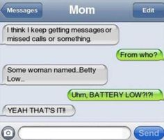 Ideas For Funny Texts Period Mom - Funny text conversations -