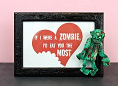 DIY Zombie Valentines - Free Printable Plus Craft Idea