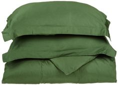 $45.40-$49.99 Baby Egyptian Cotton 300 Thread Count Solid Duvet Cover Set, Full/Queen, Hunter Green - Made of 100-percent Egyptian Cotton our Duvet Cover set is a luxurious and simple way to brighten the decor of any room. The single ply sateen finish duvet features button closure along one side for easy access. http://www.amazon.com/dp/B005TP554M/?tag=pin2baby-20